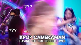 kpop cameraman enjoying their job a little too much