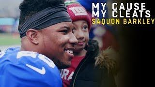 Saquon Barkley Explains Why he Plays & Raises Awareness for 22q