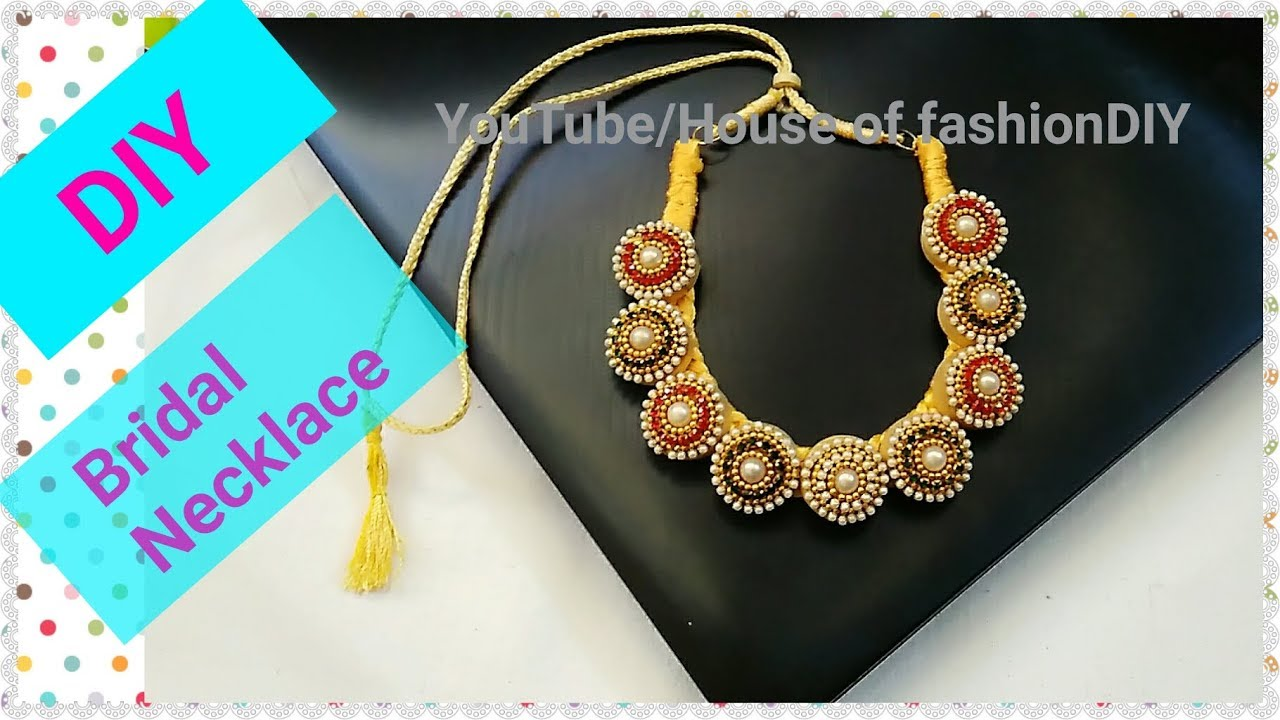 How To Make Designer Necklace/Party ware Necklace..! - YouTube