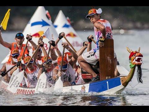 Dragon Boat racing in Hong Kong - Red Bull Dragon Roar 2014