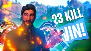 Tilted Towers Destruction (23 Kill WIN!) - Fortnite Battle Royale