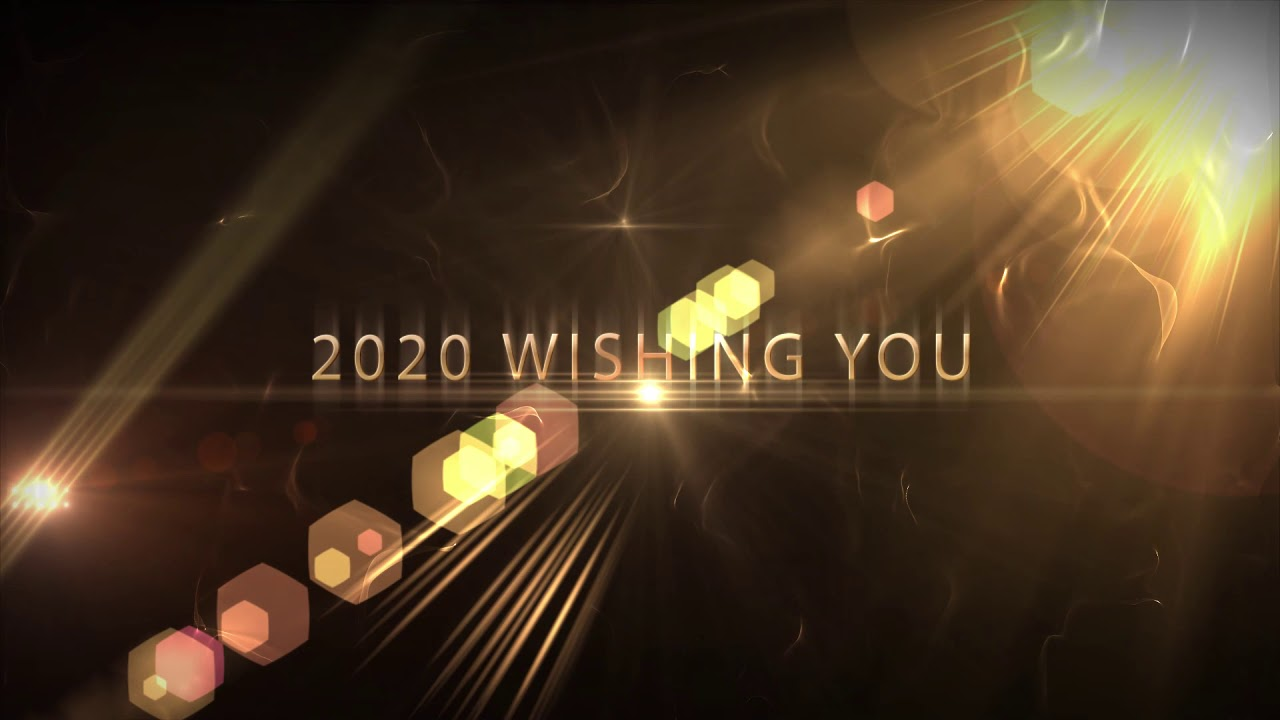 Happy New Year 2020 Wishing A New Year Greetings Motion Graphics Video Bye Bye 2019 Youtube