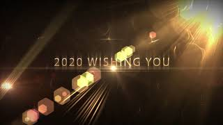 Happy New Year 2020 Wishing A New Year Greetings Motion Graphics Bye Bye 2019