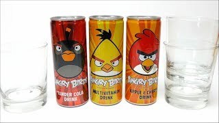 NEW Soft Drinks - Angry Birds Set Cola Multivitamin and Apple Cherry