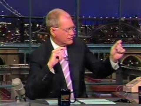 Johnny Dark Visits Letterman