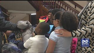 Springfield firefighters donate coats to students at Homer Street School