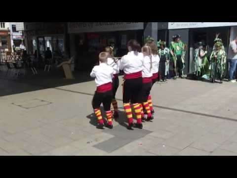 Children Perform an English Traditional Rapper Dance