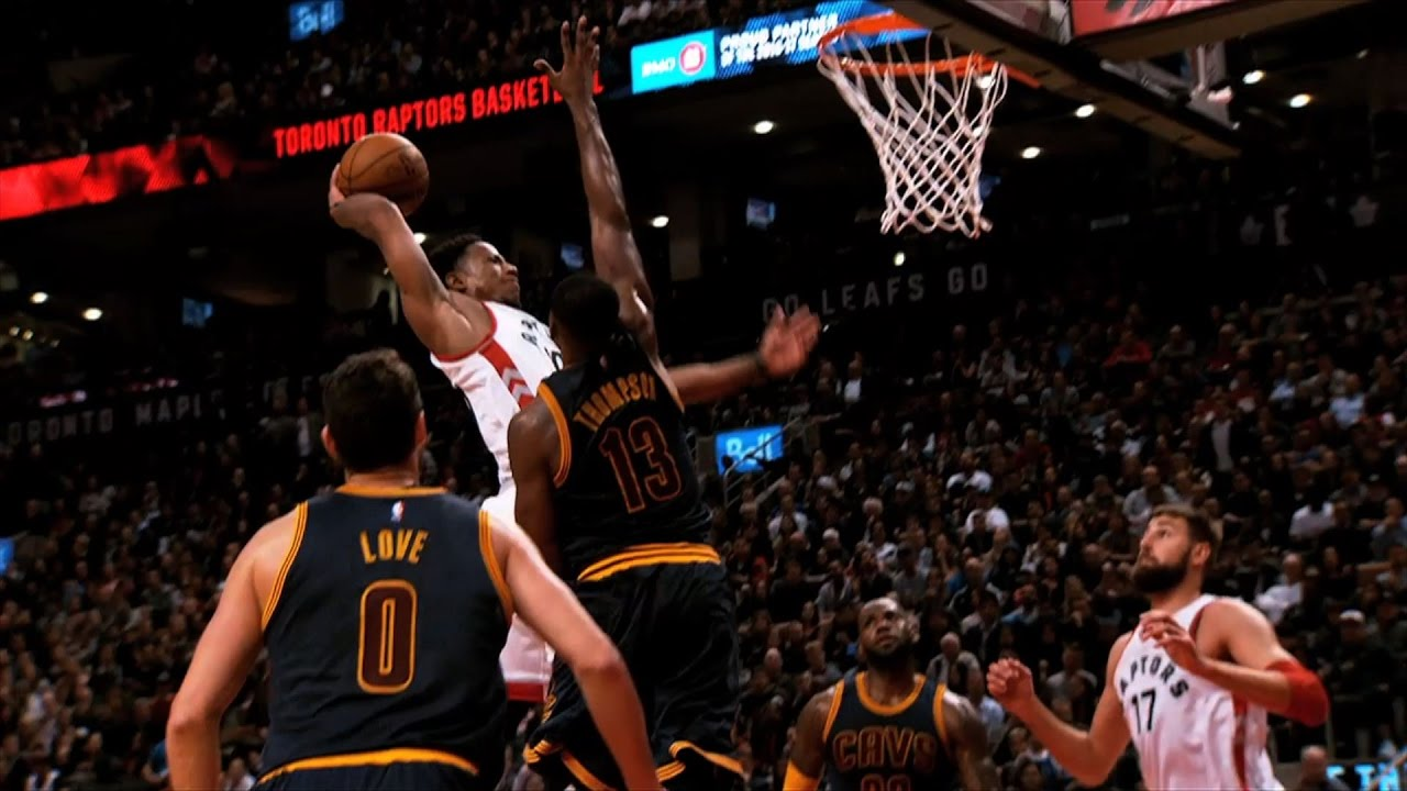 DeMar DeRozan with the Poster Dunk Against Cavs! - YouTube