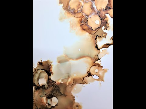 Alcohol Ink Abstract Technique - Making Of Jupiter Skies