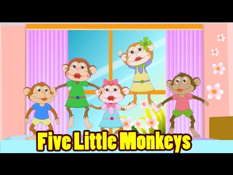 Thumbnail: Five Little Monkeys Jumping On The Bed with Lyrics - Kids Songs Nursery Rhymes by EFlashApps