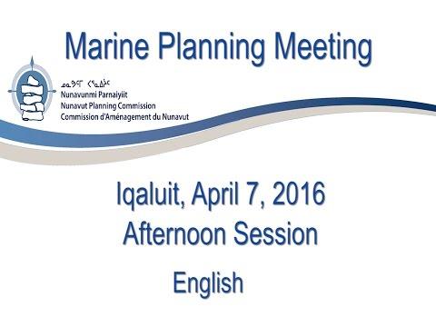 Marine Planning Meeting Afternoon English
