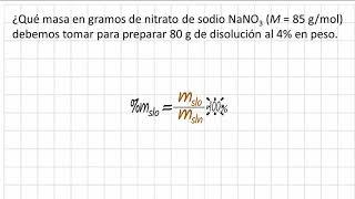 Como calcular los gramos a partir del porcentaje en peso