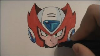 How To Draw Megaman (Zero) - Tutorial