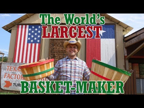 The World's LARGEST Basket-Making Company is in Texas!