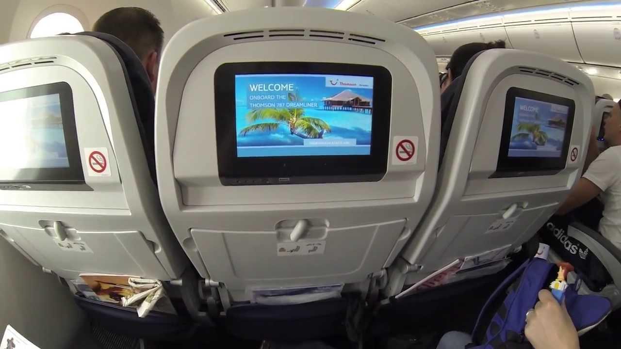 Thomson Boeing 787 Dreamliner   Interior   HD 1080P   YouTube