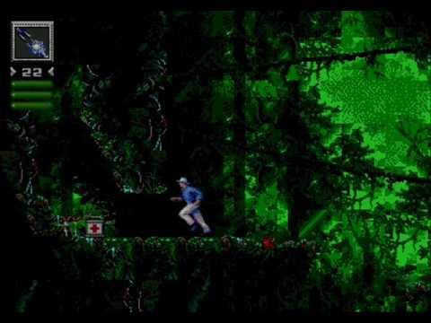 Jurassic Park (Sega MD / Genesis) - (Dr. Alan Grant | Mission 1 - The Jungle | Hard Difficulty)