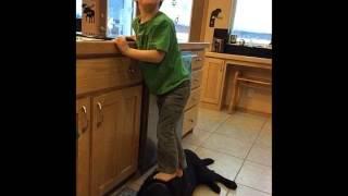 Sarah Palin's Son standing on dog sparks Facebook fury.