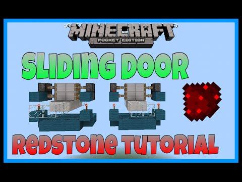 Automatic/Sliding Door Tutorial in Mcpe 0 15 0 - Mcpe Redstone Creations