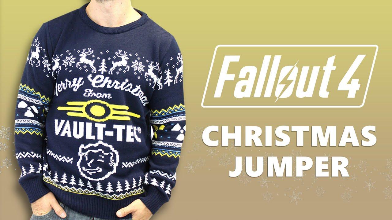 Vault Tec Christmas Sweater.Fallout Vault Boy Xmas Jumper Small