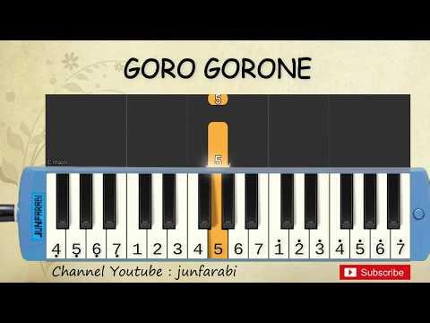 not pianika goro gorone - lagu daerah - belajar pianika not angka goro gorone