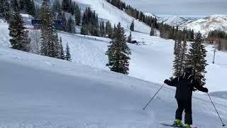 Dorothy Johnston skiing Solitude December 31, 2019