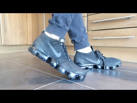 premium selection 25513 25495 NIKE AIR VAPORMAX FLYKNIT 3 'TRIPLE BLACK' REVIEW, UNBOXING, ON FEET
