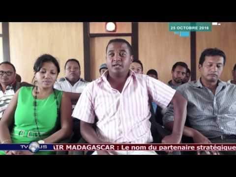 JOURNAL DU 25 OCTOBRE 2016  BY TV PLUS MADAGASCAR