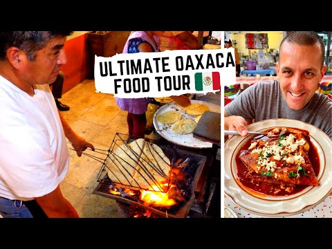 MEXICAN STREET FOOD In Oaxaca, Mexico   Street Side TLAYUDAS + In The KITCHEN For MOLE