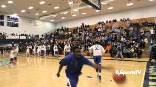 North Hardin HS Warmup Dunks in District Tourney