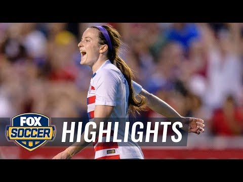 Rose Lavelle scores the opening goal against Canada  2018 CONCACAF Womens Championship