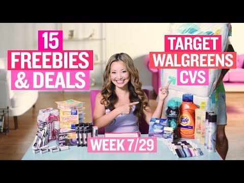 ★ 15 FREEBIES & Deals at Target, Walgreens & CVS (Week 7/29 – 8/4)