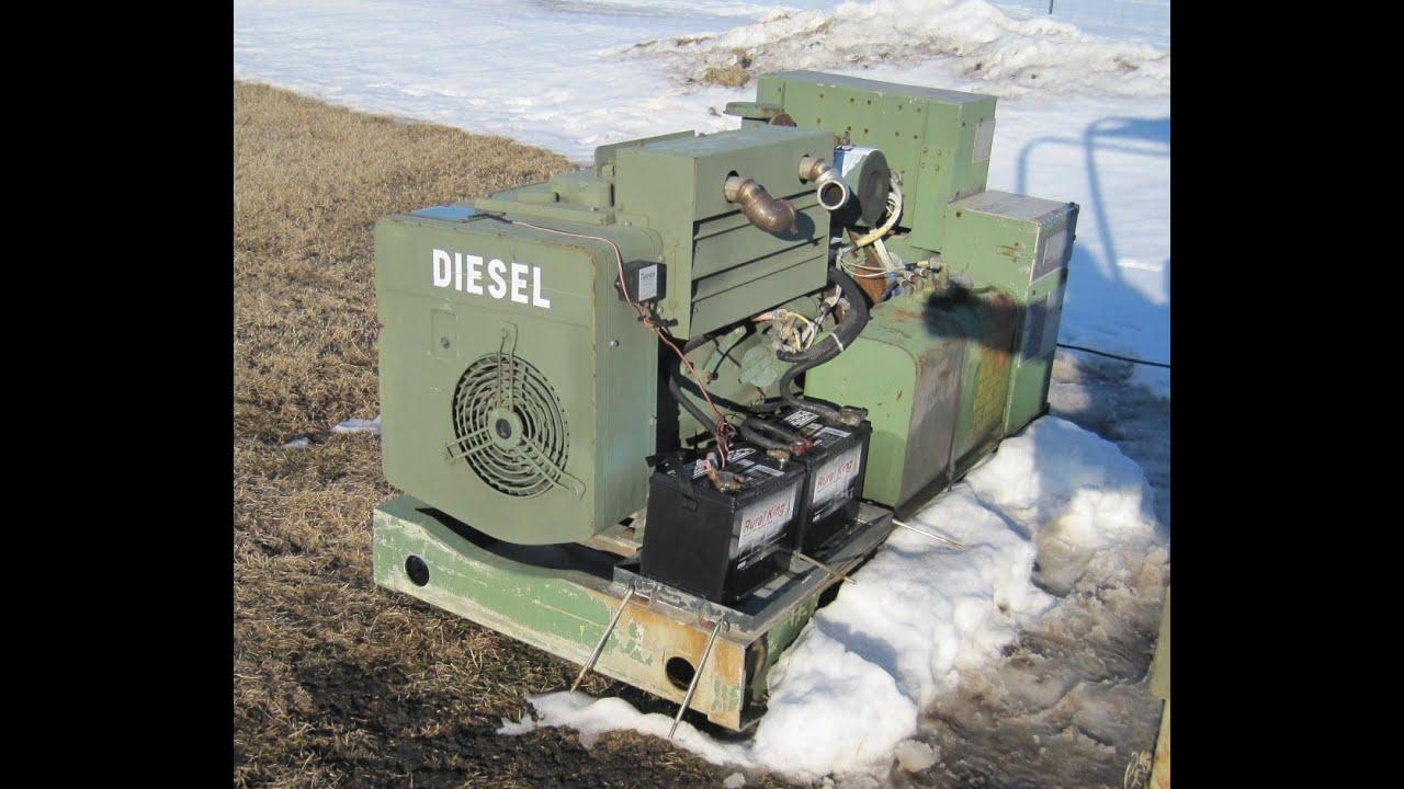 Mep 003a Generator Onan 10kw Diesel Genset Cold Start Load Test 4 Cyl Diesel Generator 1857 Hrs Youtube