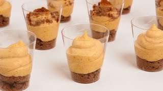 Pumpkin Pie Mousse Shots Recipe - Laura Vitale - Laura In The Kitchen Episode 860