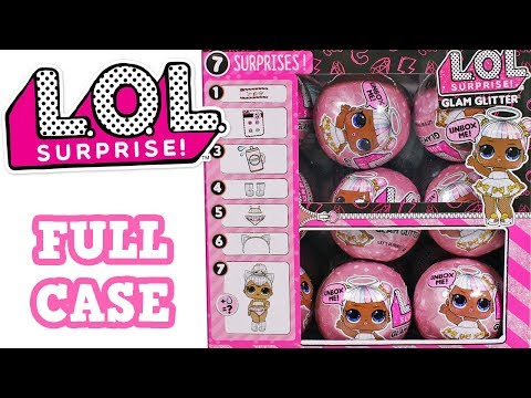 LOL Surprise Glam Glitter Full Case Opening Blind Box Unboxing Toy Review 7 Layers of Surprise