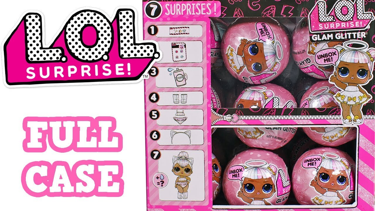 7 SURPRISES in Ball Doll GLAM GLITTER Series 4 Big Sisters L.O.L LOL Surprise