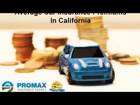 Average car insurance premium in california