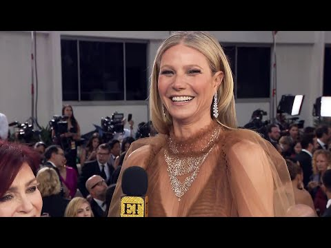 Gwyneth Paltrow Jokes About Her Dress Before Being 'Over the Hill' | Golden Globes 2020
