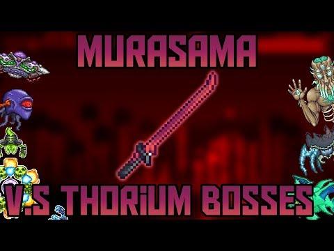Murasama V.S All Thorium Bosses! ||Thorium/Calamity Mod Expert Mode||