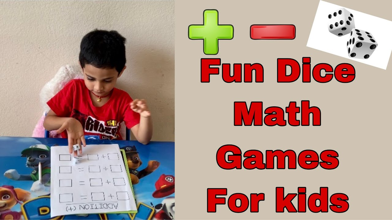 Addition and Subtraction for Preschool and kindergarten kids / Fun Math Game by using Dice for Kids