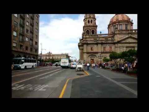 Video del centro de Guadalajara Jalisco, México.