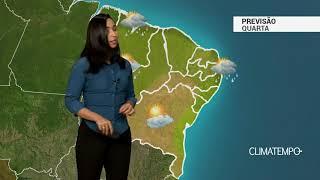Previsão Nordeste – Temporais na costa norte