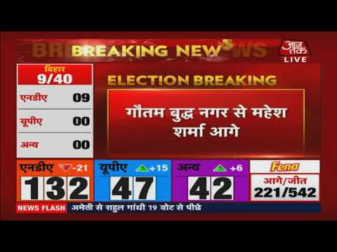 Election Results 2019 LIVE | Gaziabaad से VK Singh आगे !