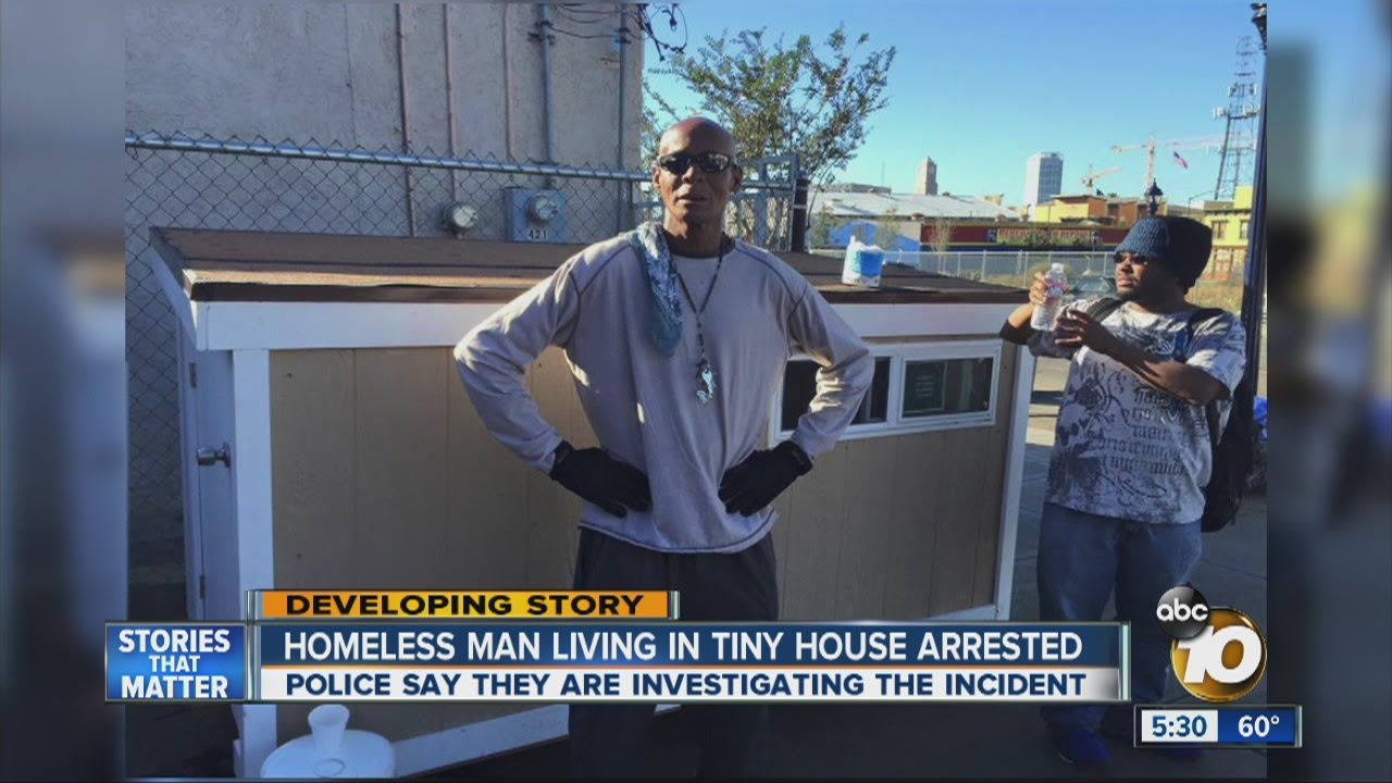 Homeless man living in tiny house arrested tells his side of the