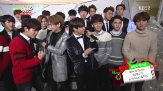 [1080P] 141219 EXO, TOHEART & INFINITE - Interview @ Music Bank