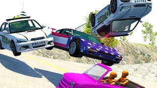 WILDEST DOWNHILL HIGH SPEED POLICE CHASES AND EJECTIONS! - BeamNG Drive Crash Test Compilation