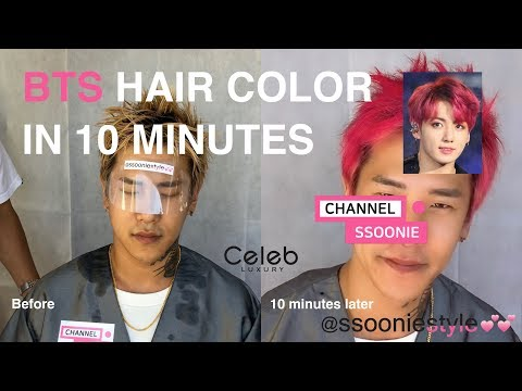 BTS HAIR COLOR IN 10 MINUTES??