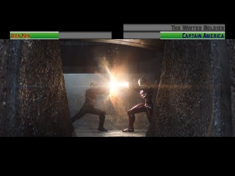 Iron Man vs Captain America and The Winter Soldier...with healthbars