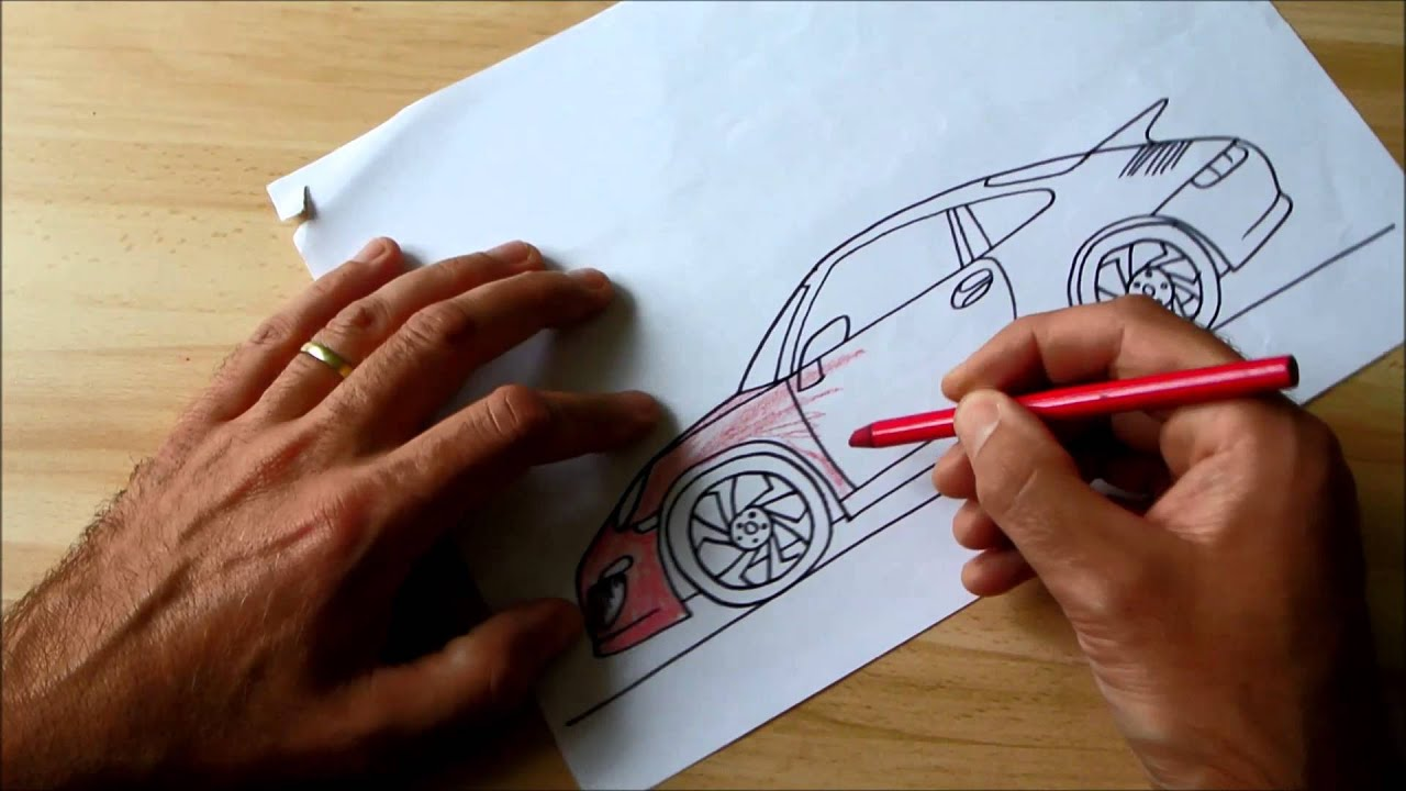 4e9bde28ce4c How to Draw Porsche 911 (for Kids) - YouTube