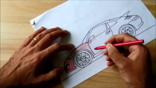 How to Draw Porsche 911 (for Kids)