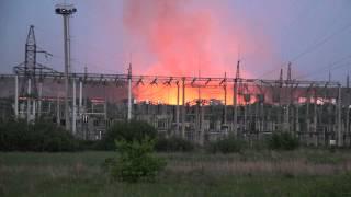 Пожар на Цементном заводе п. Комсомольский (Мордовия)